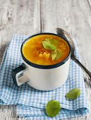 stock photo of ginger bread  - Carrot And Ginger Soup With Red Lentils - JPG