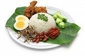 stock photo of nasi  - nasi lemak - JPG