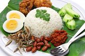 stock photo of nasi  - nasi lemak - JPG