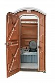 pic of septic  - Portable toilet often called a portaloo and hired for large outdoor festivals or events - JPG
