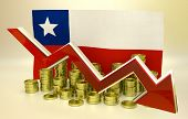 stock photo of pesos  - 3D finance graph  - JPG