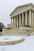 stock photo of supreme court  - Washington DC in Winter  - JPG