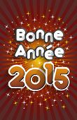 foto of bonnes  - (Bonne Ann�e 2015 In French) Happy New Year 2015 Greeting Card vector illustration - JPG