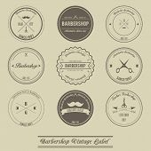 image of barbershop  - creative design of Barbershop vintage label design - JPG