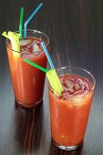 picture of bloody mary  - Bloody Mary cocktail on a veneered counter top - JPG