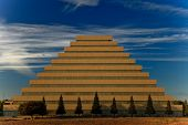 stock photo of ziggurat  - Pyramid office building - JPG