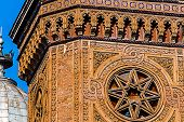 picture of synagogue  - Detail from Synagogue CETATE in Timisoara that was built between 1863 - JPG