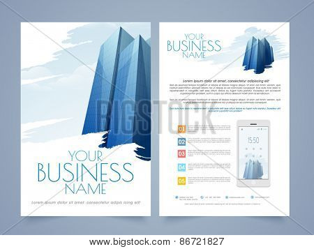 Professional Two Page Flyertemplate Or Brochure Design For Real