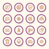 picture of ecology  - Ecology web icons set - JPG