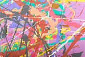 image of acrylic painting  - Fragment abstract modern painting background with expressive splashes of paint - JPG
