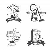 picture of dirty-laundry  - Set of vintage logos - JPG