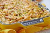 picture of baked potato  - Baked Potato Gratin with Beef Ground Meat - JPG