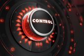 pic of dangerous  - Control Regulator on Black Control Console with Red Backlight - JPG