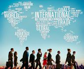 picture of globalization  - International World Global Network Globalization International Concept - JPG