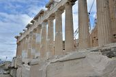 picture of parthenon  - A view of the Parthenon on the Acropolis in Athens - JPG