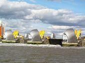 picture of safety barrier  - Thames Barrier - JPG