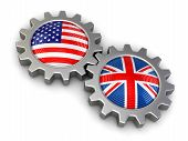 picture of snatch  - USA and British flags on a gears - JPG