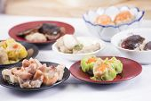 image of chinese menu  - Group of stream Dim Sum chinese food / Cooking Dim sum concept