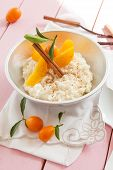 Постер, плакат: Rice Pudding With Peaches