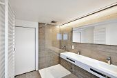 image of floor heating  - luxury bathroom estate home with sink and shower - JPG