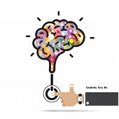 picture of creativity  - Brain opening concept - JPG