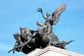 stock photo of chariot  - Quadriga placed upon Wellington Arch  - JPG