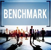 image of benchmarking  - Benchmark Standard Management Improvement Benchmarking Concept - JPG
