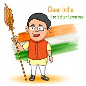 image of indian independence day  - illustration of Indian people wishing Happy Independence Day of India - JPG