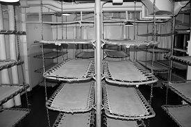 image of battleship  - Sleeping quarters with canvas bunks on a World War II era battleship - JPG