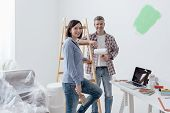 Couple Painting Their House poster