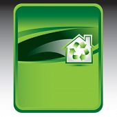 recycled home green background
