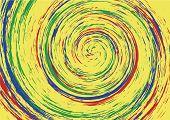 Hypnotic Spiral Swirl Background poster