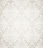 Damask seamless floral pattern. Vintage vector illustration.
