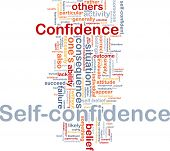 Background concept wordcloud illustration of self-confidence