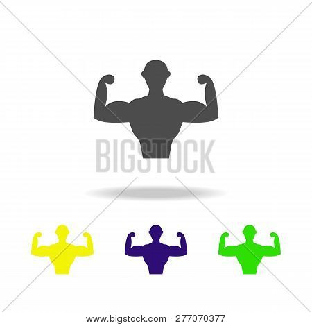 Hardened Person Multicolored Icons Element