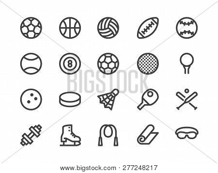 Sports Equipment Line Icon Vector