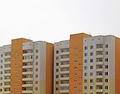 Apartment Buildings. Contemporary Architecture. Multistorey Building. Apartment Block. Housing Estat poster