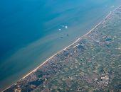 Aerial View Of Belgium Coast poster