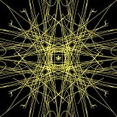Sacred Geometry. Graphic Representation Of A World Web And Spider. Theory Of Strings. Alchemy, Relig poster