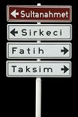 Touristic Districts Of Istanbul, Turkey poster