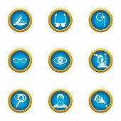 Scientific Environmentalist Icons Set. Flat Set Of 9 Scientific Environmentalist Icons For Web Isola poster