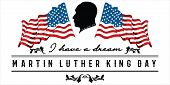 Mlk Day Poster. Martin Luther King Jr. Day. I Have A Dream . Vector Illustration Martin Luther King  poster