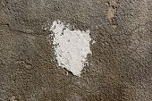 Fragment Of Concrete Wall With Putty. Can Be Used As Mock Up For Your Text poster