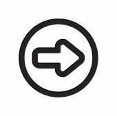 Right Arrow Vector Icon On White Background. Right Arrow Icon In Modern Design Style. Right Arrow Ve poster
