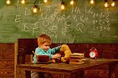 School Cafeteria. Little Boy In School Cafeteria. School Cafeteria For Healthy Eating. Child Feed Te poster