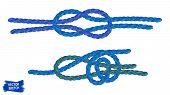 Knots Sketches. Nautical Rope. Braid. Rope Knots. Braided Trim. Marine. Sail. Ship. Boat. Sailor. Se poster