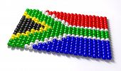 image of zulu  - A traditional zulu beaded south african flag on an isolated background - JPG