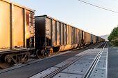 image of amtrak  - a train pulling in on bellingham coast - JPG