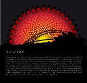 stock photo of aborigines  - Australia Aboriginal art background with Sydney silhouettes - JPG