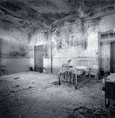 foto of xx  - Decrepit and abandoned hospital room. Begining of XX century. Border between France and Spain